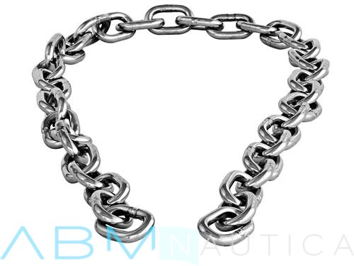 Calibrated chain for winches in 316 stainless steel- 6 mm. -