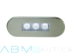 Luce di cortesia 3 led - 84 x 29 mm. - Luce bianca