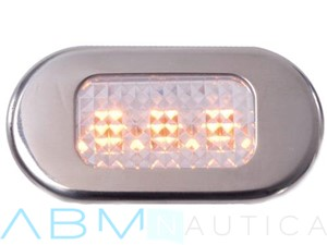 Luce di cortesia 3 led - 44 x 22 mm. - Luce giallo