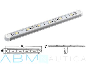Plafoniera lineare a Led Mini - 6 Led -