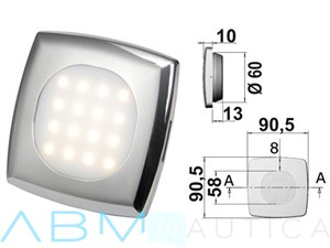 Faretto Square 16 Led