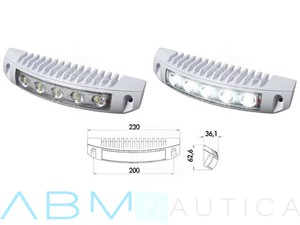 Faretto a 5 LED per plancette, specchi di poppa, fly-bridge