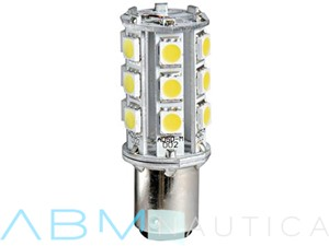 Lampadina a 18 led - attacco BAY15D  - Pin disassati -