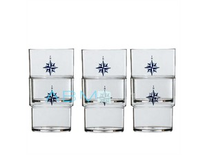 Set of 4 stackable glasses