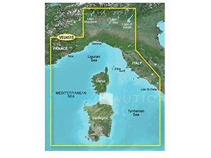 Cartografia GARMIN Bluechart G3 HD Vision - Mar Tirreno e centro isole