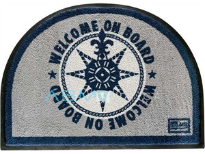 Tappetino Marine Business antiscivolo WELCOME - Blu