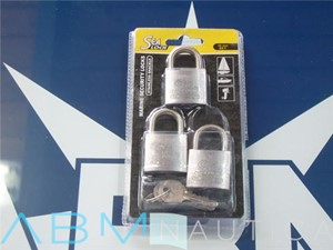 Kit of 3 SEA LOCK padlocks- unique pair of keys -