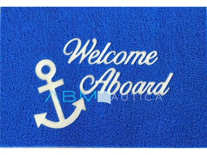 Tappetino barca benvenuto WELCOME ON BOARD - blu -