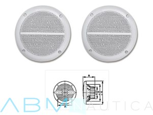 Casse acustiche T-Sound - 150 mm. - 60 watt -