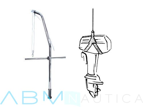 Davit for outboard unloading ( Motor Lift )