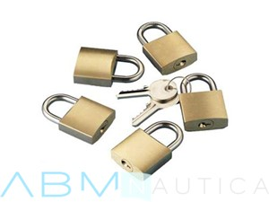 Kitof 5 padlocks with a single key