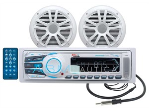 Kit stereo barca Boss Marine MR1308UAB + Casse + Antenna + BT