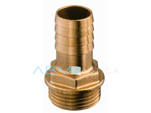 Portagomma filetto maschio in bronzo - 1' 1/2 x 50 mm -