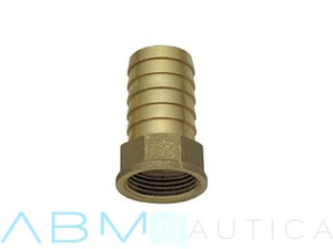 Portagomma filetto femmina in ottone - 1/4 x 10 mm -