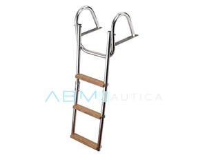 Foldable stepladder with arched connections