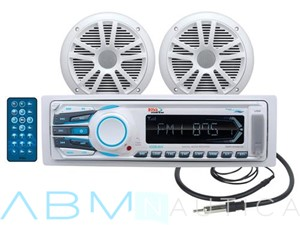 Kit Stereo barca Boss Marine MR1306UA + Casse + Antenna