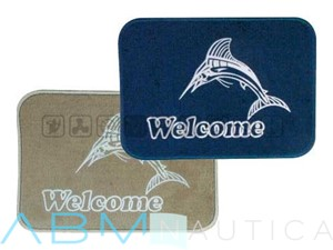"Tappetino Marlin "" Welcome "" - Blu -"