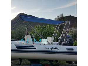 Tendalino telescopico per roll bar gommone